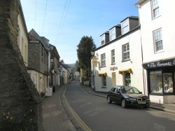 A street in Lostwithiel, Cornwall