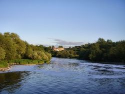 River Trent Beeston, Nottinghamshire, looking towards Clifton.