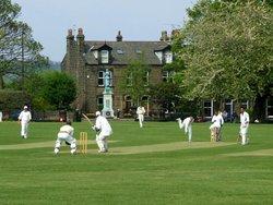Cricket in the park, Calverley, West Yorkshire.