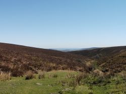 A view of Exmoor National Park in Somerset