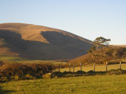 Looking towards Black Combe from Lacra hill, Kirksanton, Cumbria