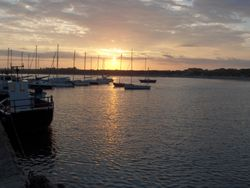Sunset over Beadnell Harbour, Northumberland