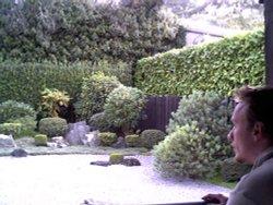 The Zen garden at Dartington hall, Devon