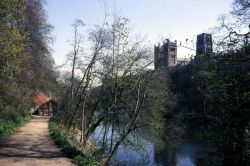 The River Wear and Durham Cathedral from the riverside path