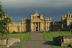 Blenheim Palace North Facade from the site of Woodstock Manor (Midsummer 2007)