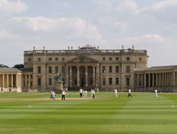 Lads at cricket practice, Stowe House / Stowe School, Buckingham
