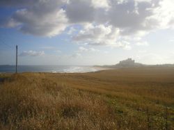 Bamburgh Castle looking south, Northumberland