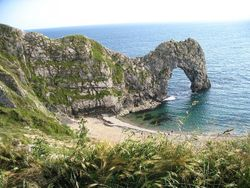 Durdle Door On A Beautiful Summer Day