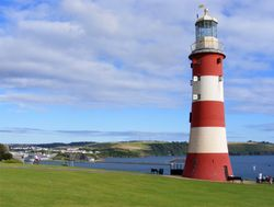 Smeaton's Tower on Plymouth Hoe, Devon