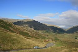 View of the Hardknott Pass in Cumbria
