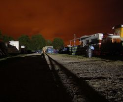 Red sky at night, Three Counties Showground, Worcestershire