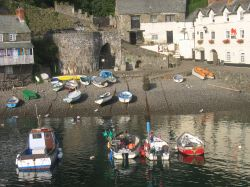 Clovelly Harbour in Devon