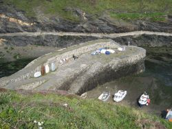 Above the harbour at Boscastle, Cornwall