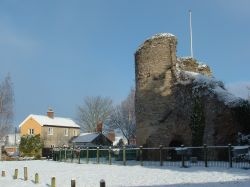 Bungay Castle, Suffolk in Snow