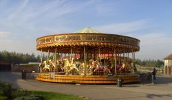 Carousel, Lightwater Valley Park, Ripon, North Yorkshire Wallpaper