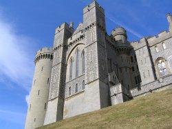 Arundel castle in morning sun