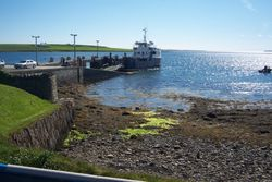 Shapinsay Ferry in the harbour, 2007