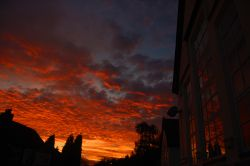 Fire in the sky at Kingsbury, Warwickshire