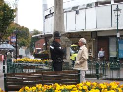 Rugeley, Staffordshire - Police Officer on the square