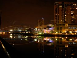 Modern and colourful, 'The Lowry' in Salford Quays, Greater Manchester