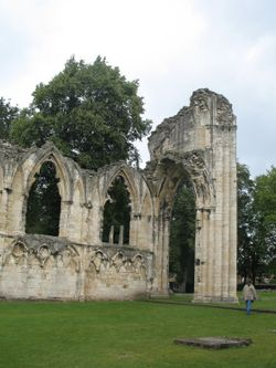 York Abbey in ruins