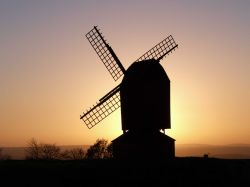 Brill windmill at sunset
