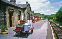 Station on the Keighley & Worth Valley Railway