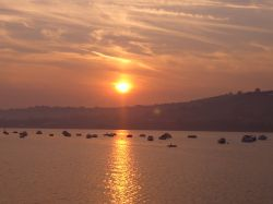 Sunset Over the River Teign
