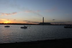 Fawley Power Station at Sunset