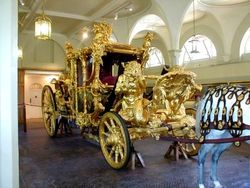 The Gold Coach, Royal Mews, Buckingham Palace, London