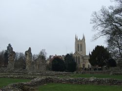 St Edmundsbury Cathedral from the Abbey garden