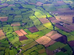 Aerial view near Howden, East Riding of Yorkshire
