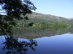 September morning reflections on Grasmere, Cumbria
