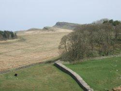 Hadrian's Wall at Housesteads Roman Fort, Haltwhistle, Northumberland