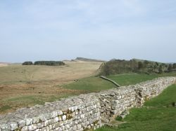 Hadrian's Wall at Housesteads, Northumberland