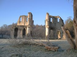 Frosty morning at Roche Abbey, Maltby, South Yorkshire