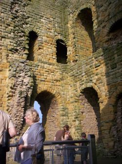 Inside tower, Scarborough Castle, North Yorkshire
