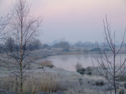 Early winter morning at North Cave wetlands, East Riding of Yorkshire