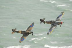 Eastbourne airshow from Beachy Head