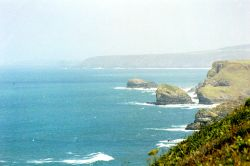 Coast nr Portreath, Cornwall. Wallpaper