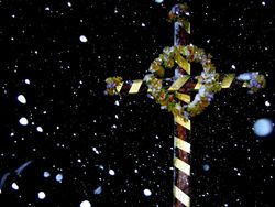 Easter Cross at St Oswalds Church, Lythe, Whitby