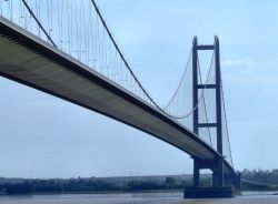 The Humber bridge, Kingston upon Hull, East Riding of Yorkshire