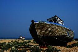 Abandoned fishing boats Dungeness, Kent