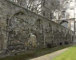 The Ancient Wall of The Great Cloister  c1100