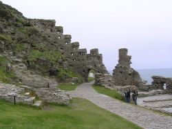 The famous castle ruin on the island of Tintagel.