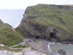 View of Tintagel from the headland opposite