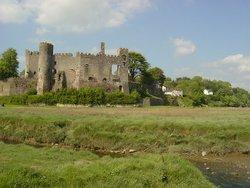 Laugharne Castle.