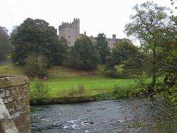 River Wye towards Haddon Hall. Wallpaper