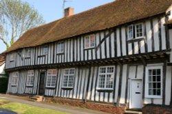 Timber framed houses in Bildeston, Suffolk