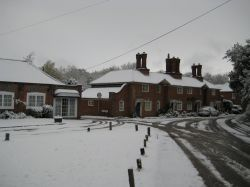 Hook Village Green in the snow